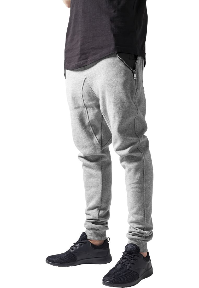 Side Zip Leather Pocket Sweatpant - COLLEGE HOUSUT - TTUTB849 - 1