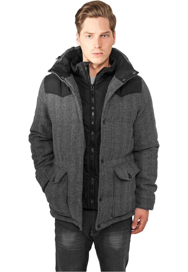 Material Mixed Winter Jacket - TALVITAKIT - TTUTB891 - 1