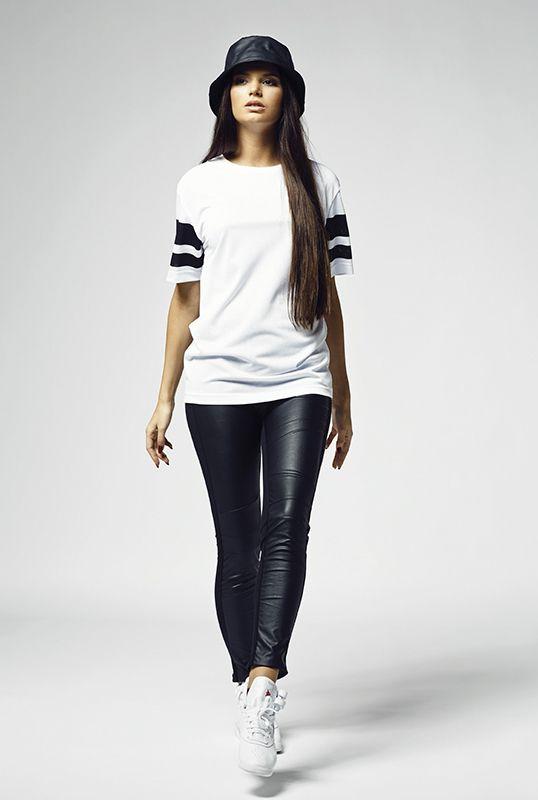 Ladies Stripe Mesh Tee - T-PAIDAT - TTUTB901 - 1
