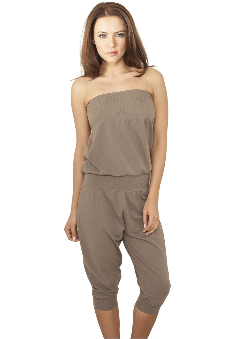 Ladies Shoulderfree Capri Jumpsuit - ASUT - TTUTB920 - 1