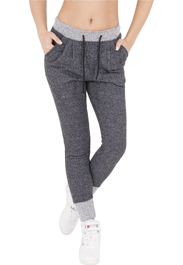 Ladies Melange Contrast Sweatpants - COLLEGE HOUSUT - TTUTB934 - 1