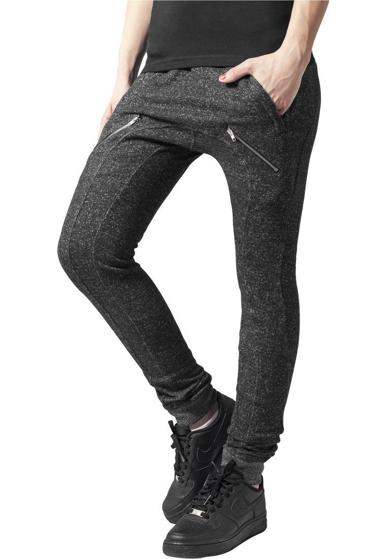 Ladies Zipped Melange Sweatpants - COLLEGE HOUSUT - TTUTB935 - 1
