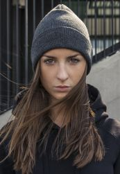 Heavy Knit Beanie charcoal one size