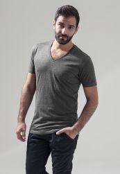 Light T-Shirt V-Neck charcoal S