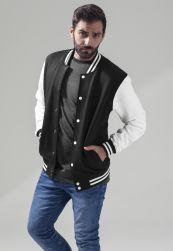 Sweat College Jacket blk/wht XL