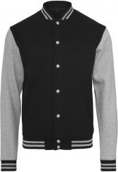 Sweat College Jacket black/h.grey S