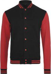 Sweat College Jacket blk/red XXL