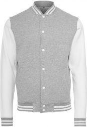 Sweat College Jacket h.grey/white XXL