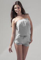 Ladies Hot Jumpsuit heather grey       L