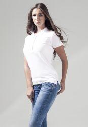 Ladies Jersey Polo white S