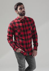 Checked Flanell Shirt blk/red L