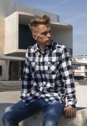Checked Flanell Shirt blk/wht L