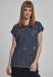 Ladies Batik Dye Extended Shoulder Tee grey darkgrey L